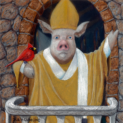 Pork Pius the First with his Cardinal