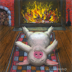 Pignuts Roasting by an Open Fire