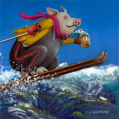 Hog High on Skiing