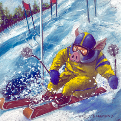 Pig Out on the Slopes